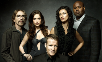 Human Target (2010 TV series) - From left to right: Guerrero, Ames, Chance, Pucci and Winston.
