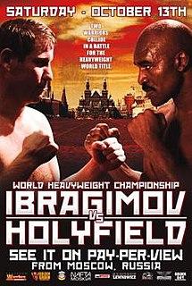 Sultan Ibragimov vs. Evander Holyfield Boxing competition