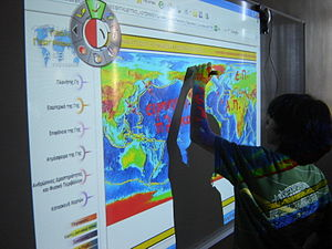 Interactive Whiteboards in Doukas School Class...