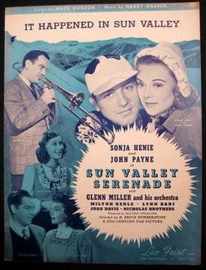 It Happened in Sun Valley - 1941 sheet music, Leo Feist, New York.