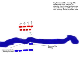 Battle of Jaxartes - Image: Jaxartes Phase 1
