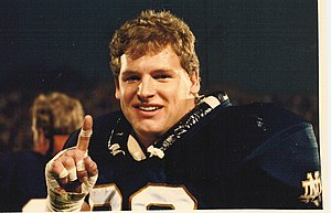 Jeff Alm - Alm during his college career at Notre Dame