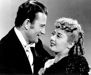 Lady for a Night - John Wayne and Blondell