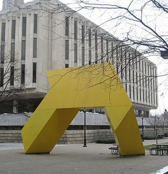 Tony Smith (sculptor) - Light Up, outside the Hillman Library at the University of Pittsburgh