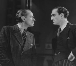 Loyalties (1933 film) - Miles Mander confronts Basil Rathbone