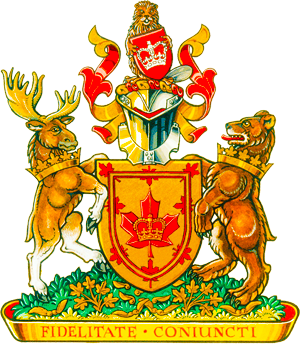 Monarchist League of Canada - The Coat of Arms of the Monarchist League of Canada, granted with permission of Her Majesty the Queen in 2000.