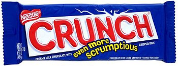 Nestle Crunch in most recent packaging