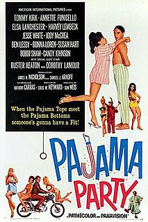 <i>Pajama Party</i> (film) 1964 beach party film directed by Don Weis