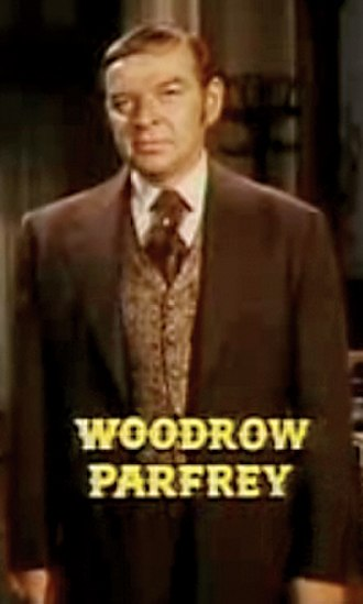 """Woodrow Parfrey - Woodrow Parfrey received a rare screen credit as a """"Special Guest Star"""" in the """"My Friend, My Enemy"""" episode of Bonanza"""