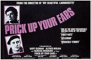 Prick Up Your Ears - UK release poster