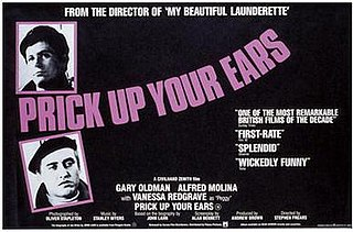 <i>Prick Up Your Ears</i> 1987 film by Stephen Frears