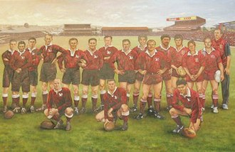 Queensland Rugby League's Team of the Century - The team as painted by Dave Thomas