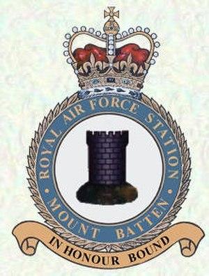RAF Mount Batten - Image: RAF Mount Batten station crest