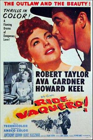 Ride, Vaquero! - Original film poster