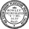 Official seal of Rowley, Massachusetts