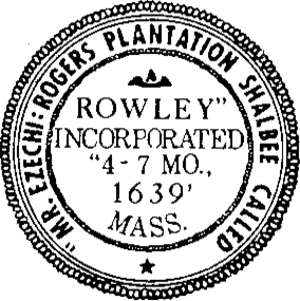 Rowley, Massachusetts - Image: Rowley MA seal