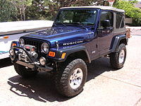 TJ Rubicon with aftermarket modifications