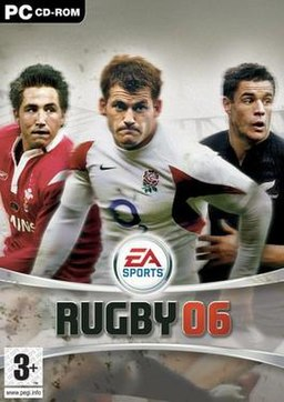 EA Sports Rugby 06 European box cover