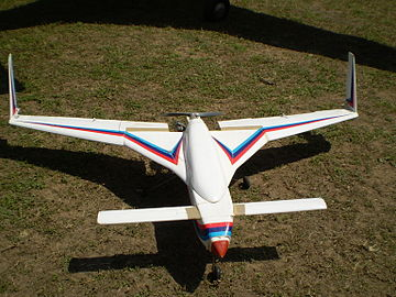 A scaled-down model of the Rustom-1 MALE UAV. Rustom RC model1.JPG