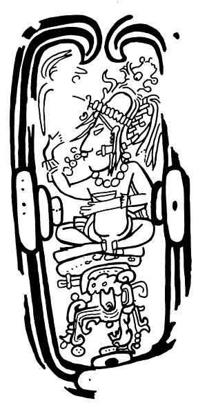 Fig. 2: San Francisco Capstone depicting the Tonsured Maize God residing in a well. SAN FRAN-1.jpg
