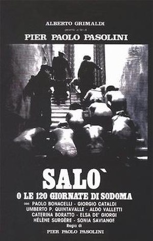 Salò, or the 120 Days of Sodom - Original Italian release poster
