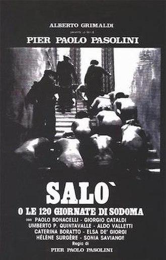 Salò, or the 120 Days of Sodom - Original Italian release poster