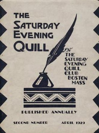 Saturday Evening Quill - Image: Saturday Evening Quill cover 1929