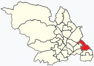 Woodhouse, South Yorkshire - Image: Sheffield wards Woodhouse