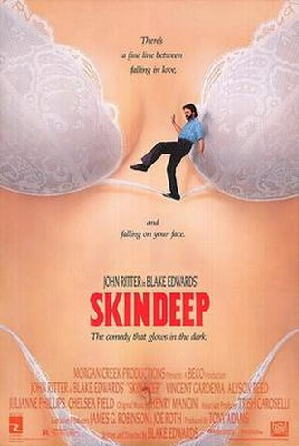Skin Deep (1989 film) - Theatrical release poster