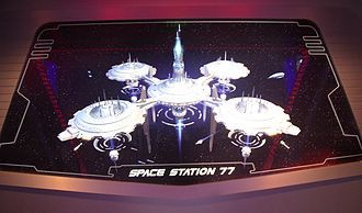 "Space Mountain (Disneyland) - ""Space Station 77"" as depicted in the ride's queue"