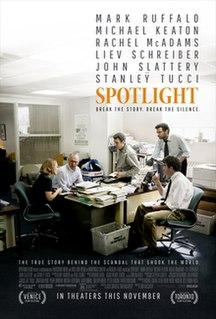 <i>Spotlight</i> (film) 2015 American drama film directed by Tom McCarthy
