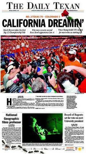 The Daily Texan - Image: The Daily Texan 2005 12 05