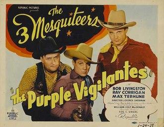 The Purple Vigilantes - Theatrical release poster