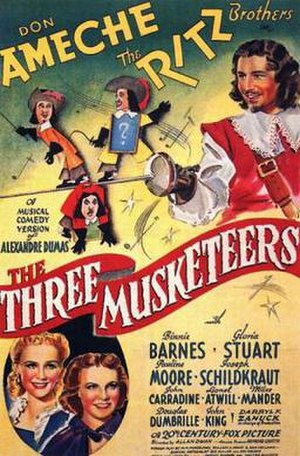 The Three Musketeers (1939 film) - Image: The Three Musketeers Film Poster
