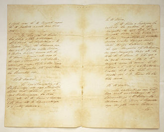 Treaty of Waitangi - Manuscript copy of the Treaty of Waitangi (in Māori) in the hand of Henry Tacy Kemp