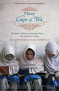 <i>Three Cups of Tea</i> book by Greg Mortenson