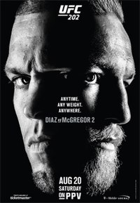 A poster or logo for UFC 202: Diaz vs. McGregor 2.