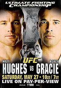 A poster or logo for UFC 60: Hughes vs. Gracie.