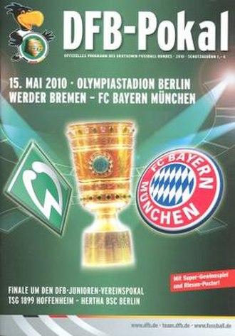 2010 DFB-Pokal Final - Image: 2010 DFB Pokal Final programme
