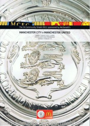 2011 FA Community Shield - The match programme cover