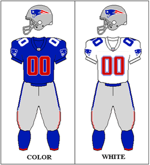 1993 New England Patriots season - Image: AFC 1993 Uniform NE