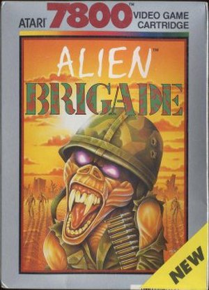 Alien Brigade - Atari 7800 box cover