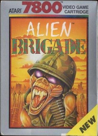 Alien Brigade - Atari 7800 box cover