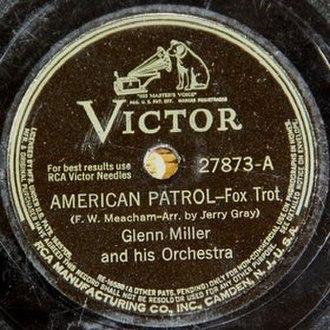 American Patrol - 1942 RCA Victor 78 single release, 27873A.