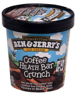 A pint of Ben & Jerry's ice cream