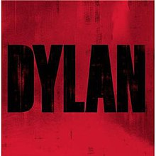 "A crimson background with ""DYLAN"" written in black"