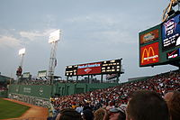 Bank of America sign at Fenway Park in Boston, MA.