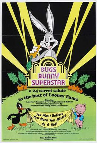 Bugs Bunny: Superstar - Theatrical release poster