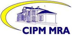Metre Convention - Logo used by laboratories that have been accredited under the CIPM MRA scheme