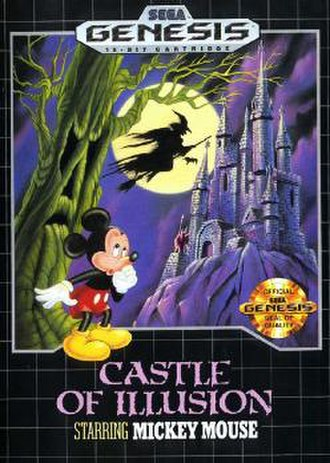 Castle of Illusion Starring Mickey Mouse - North American Genesis cover art